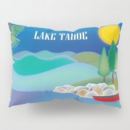 Lake Tahoe - Skyline Illustration by Loose Petals Pillow Sham