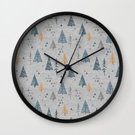 Cute forest pattern Wall Clock