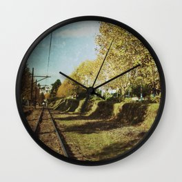 Railway line Wall Clock