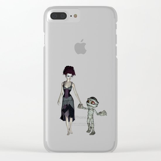 Halloween love Clear iPhone Case