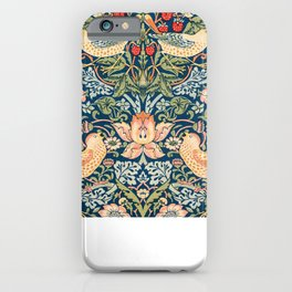 The strawberry thieves pattern by William Morris. British textile art. iPhone Case