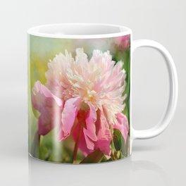 Pink Peony With Splash of Spring Coffee Mug