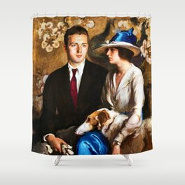 Classical Masterpiece: Edmund, Mary, and Sergius by Edmund Tarbell Shower Curtain