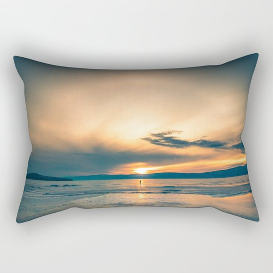 Walking In Circles Rectangular Pillow