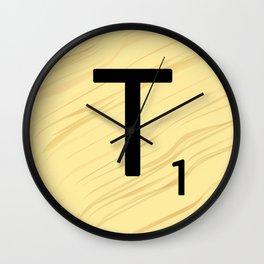 Scrabble T Initial - Large Scrabble Tile Letter Wall Clock