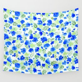 Floret (Blue) Wall Tapestry