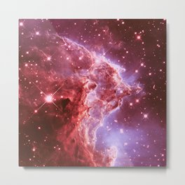 galaxy. Monkey Head Nebula Mauve Burgundy Metal Print
