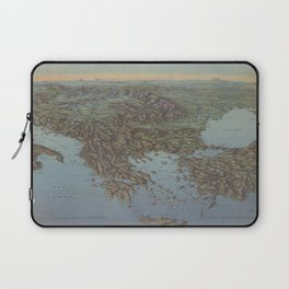 Vintage Map of the Balkans and Mediterranean (1916) Laptop Sleeve