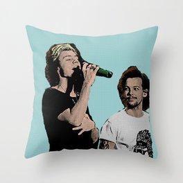 Pop Art Larry Stylinson  Throw Pillow