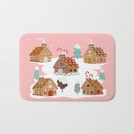 Gingerbread Village Bath Mat
