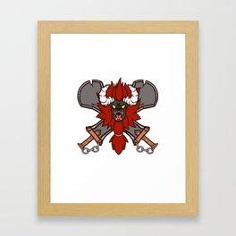 Red Lynel - Zelda BOTW Framed Art Print