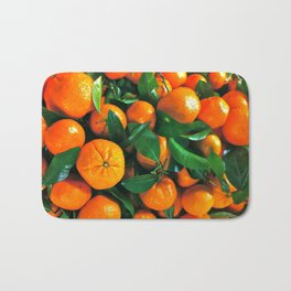 oranges from the grocery store Bath Mat