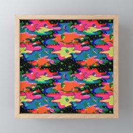 Psychedelic 3D Alien Print Framed Mini Art Print