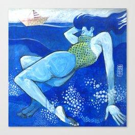 Ulisse e la sirena Canvas Print