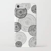 tree rings iPhone & iPod Cases featuring rings by Claire Rose Kleese