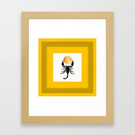 A Scorpion With The Moon In The Frame #decor #homedecor #buyart #pivivikstrm Framed Art Print