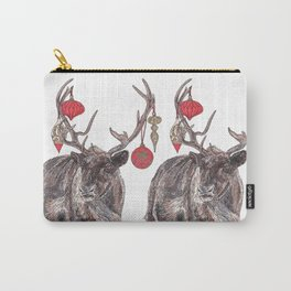Reindeer with Baubles Carry-All Pouch