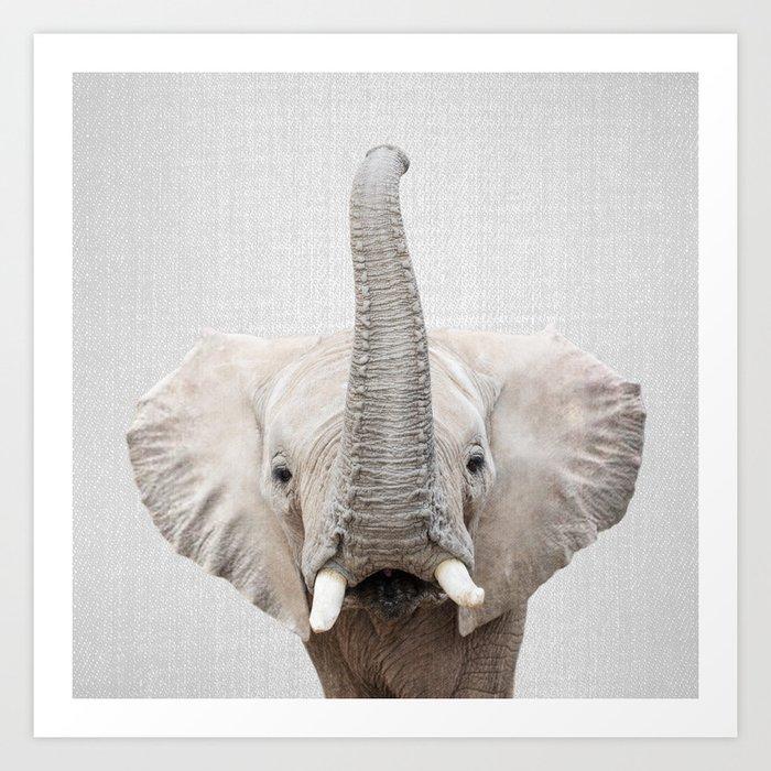 Elephant 2 - Colorful Art Print