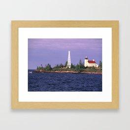 Copper Harbor Lighthouse Framed Art Print