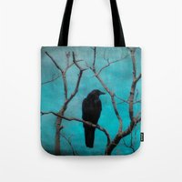 aqua Tote Bags featuring Aqua by The Strange Days Of Gothicrow