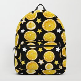 A strange combination of orange and stars Backpack