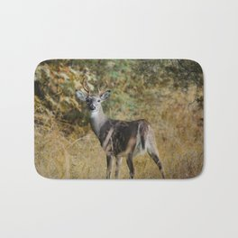 Buck in Autumn Bath Mat