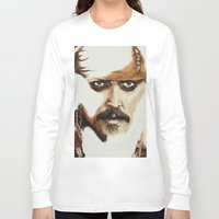 jack sparrow Long Sleeve T-shirts featuring Captain Jack Sparrow by David Burdis