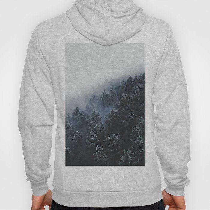 Snowy Evergreen Forest Fog (Color) Hoody
