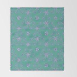 Green garden Swirl Repeating Pattern Throw Blanket