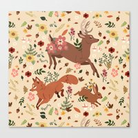 woodland Canvas Prints featuring Woodland by Sophie Eves