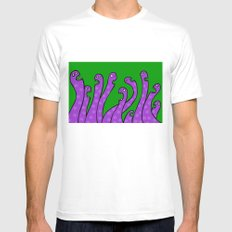 worms White Mens Fitted Tee MEDIUM