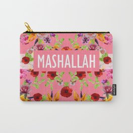MashAllah Flower Print Carry-All Pouch