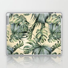 Palm Leaves Classic Linen Laptop & iPad Skin