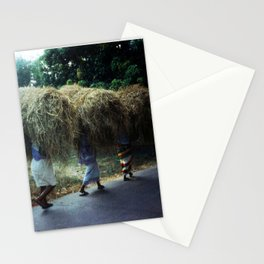 Haystacks, Goa, India Stationery Cards