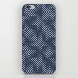 Tribal Maze Navy and White iPhone Skin