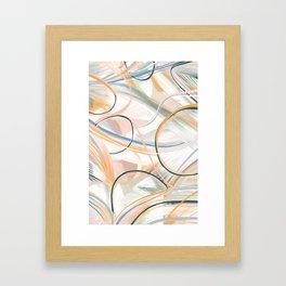 Foggy morning abstract art Framed Art Print