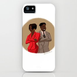 Maxine Shaw and Kyle Barker / Living Single iPhone Case