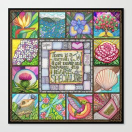 My Patchwork Friendship Squares Canvas Print