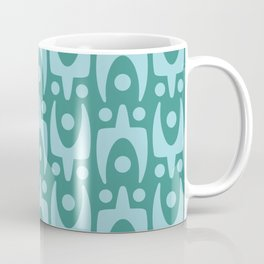 Mid Century Modern Abstract Pattern 156 Teal and Blue Coffee Mug