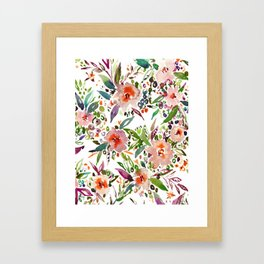 INCOGNITO INTROVERT Tropical Colorful Floral Framed Art Print