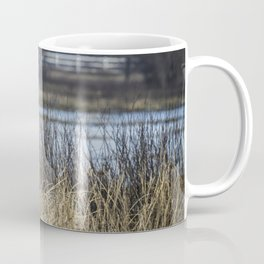 Great Blue Heron at Fern Ridge Coffee Mug
