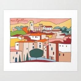 Montpellier City  Art Print
