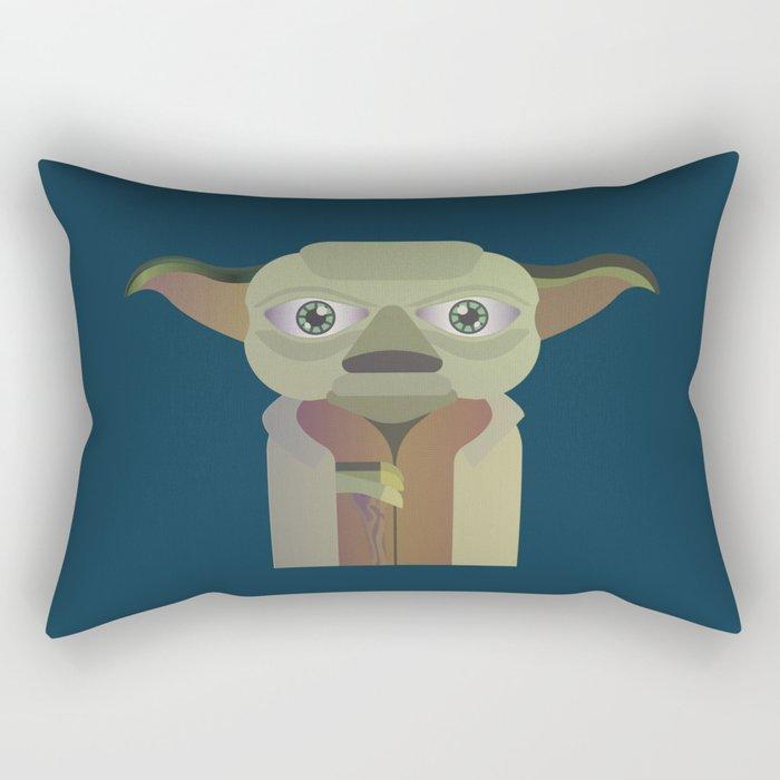 Yoda flat Rectangular Pillow
