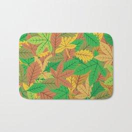 leaves background Bath Mat