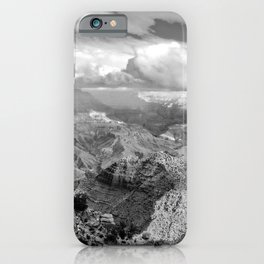 Grand Canyon in Black and White iPhone Case