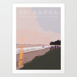 Ahangama, Sri Lanka Travel Poster Art Print