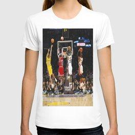 Michael#Jordan ,Ko-be Bryant,LeBron Jame-s Dunk, Last Shot poster T-shirt