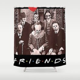 Team Horror Characters Friends Shower Curtain