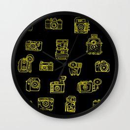 Cameras: Yellow Wall Clock