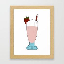 Strawberry Milkshake Framed Art Print